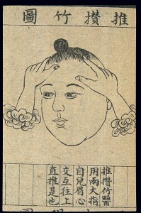 C20_Chinese_medical_illustration_in_trad__style;_Face_massage_Wellcome_L0039647