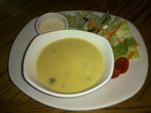 Cream_Soup_wirh_Green_Salad_and_Salad_Dressing